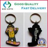Keychains de borracha cortado personalizado, Tag chave