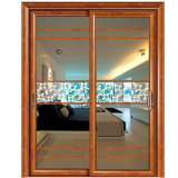 Doble Vidrio puerta deslizante con patrón clásico