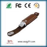 Dispositivo promozionale del USB dell'anello portachiavi del metallo del regalo di Pendrive