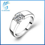 Runder 2cts Moissanite Diamant Solitare der Form-Art-silberner Ring