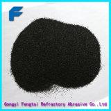 Schwarzer Cundroum fixierter Tonerde-Sand für Sandstrahlen und das Polnisch