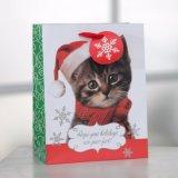 Zak van het Document van de Gift van de Klomp van de Kat van Kerstmis de Leuke, de Zak van het Document van de Gift, de Zak van het Handvat