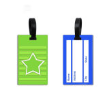 Cheap Logo personnalisé Luggage Tag en caoutchouc de silicone