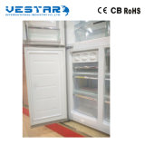 가득 차있는 스테인리스 위와 더 낮은 문 부엌 냉장고