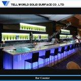 Contador de Mini Bar moderno Bar superfícies Corian Mobiliário Discoteca acrílico