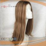 El cabello humano brasileño Top de seda mujer peluca (PPG-L-0208)