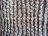 毛布のためのアクリルケーブルのニットファブリックはセーターの枕クッションに蹄鉄を打つ
