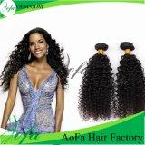 Trama brasiliana riccia crespa superiore di estensione capelli del Virgin/dei capelli umani