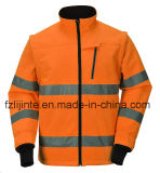 Куртка безопасности видимости защитного Workwear высокая с отражательной лентой