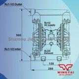 コーティングの企業のための耐圧防爆タイプ379L/Minの二重方法空気のダイヤフラムポンプ