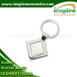 Espaço em branco Keychain da liga do zinco com projeto personalizado