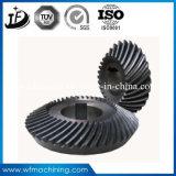 Personalizar el mecanizado de acero al carbono forjado/engranajes cónicos/transmisión