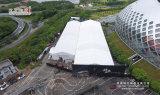 気性のガラス壁の玄関ひさしが付いている20mの幅の贅沢で大きいテント