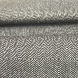ヘリンボンデザイン衣服のための部分によって染められる66%Polyester 32%Rayon 2%Spandexファブリック布
