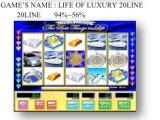 Leben der Zeile Schlitz-Säulengang-spielendes Kasino-Spiel-Maschine des Luxus-20