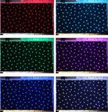 3 en 1 Estrellas RGB LED Cortina Strar de tela para decoración