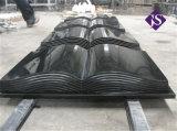 Forma de libro de piedra de granito negro, la lápida de granito negro