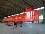 3 Verkoop van de Aanhangwagen van de Doos van de Vrachtwagen van de Aanhangwagen van de Vrachtwagen van de Lading van assen de Op zwaar werk berekende 50t Semi