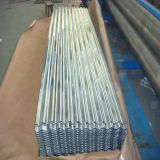 Placa de acero acanalada galvanizada sumergida caliente de la lentejuela cero