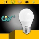 lampe d'ampoule de 3000k G45 4W E27 DEL avec du CE RoHS