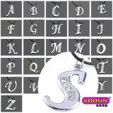 Fascino di cristallo d'argento poco costoso di alfabeto di alta qualità dell'OEM per la collana