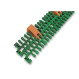 Correia transportadora modular plástica contínua de correia superior do raio de 7956 abas