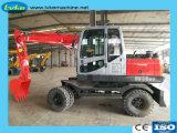 Excavatrice à roues hydrauliques d'équipement lourd dans le godet 0,4 m3