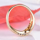 De nieuwe Verlovingsring van de gouden-Kleur van de Juwelen van de Trouwringen van de Manier Vrouwelijke