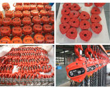 Fußboden-Höhe China-zwei 12 m-Kapazität 2 Tonnen-Tabellen-Kettenhebemaschine-Laufkatze