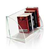 Supports acryliques transparents d'étalage de livres, présentoirs de livre de perspex