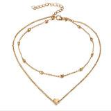 De gouden Luna van de PUNT Halsband van het Hart van de Fase van de Vrouwen van de Halsband