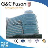 CCC Gordijngevel van het Aluminium van het Glas laag-E van de Hittebestendigheid van het Certificaat De Geluiddichte