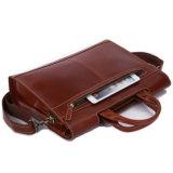 Оптовые цены High-end красноватого цвета кожаными 13,3-дюймовый ноутбук портфель для бизнеса