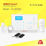 GSM Telephone Line Home Wireless Safe Burglar Alarm with Fire Fire Detector