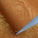 袋のための人工的なPUの革を押す浮彫りにされたトカゲの穀物
