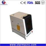 Macchina di fibra ottica della marcatura del laser della casella calda poco costosa di vendita di Starmacnc per la modifica di orecchio