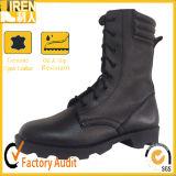 黒い高品質の完全な革軍の戦闘用ブーツ