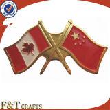 주문을 받아서 만드십시오 세계 국제적인 친교 십자가 금속 깃발 Pin (FTFP1625A)를
