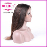 Yaki Straight Cabelo Humano Front Lace Wig