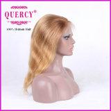 Peluca brasileña del cordón del frente de la peluca del cordón del pelo de la Virgen recta rubia del color