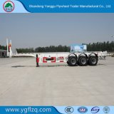 Het zelf-Dumpt Koolstofstaal van het vliegwiel 2/3 Aanhangwagen van de Container van het Skelet van Assen voor Vervoer van de Container 20/40FT met het Slot van de Draai