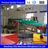PVC 두 배 색깔에 의하여 살포되는 코일 지면 및 차 매트 플라스틱 밀어남 기계
