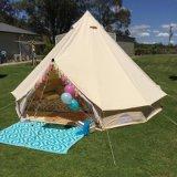 4 м 5 м 6 м огнестойкие Glamping из негорючего материала Прочный водонепроницаемый хлопок Canvas Bell палатка