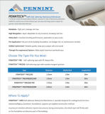 1.7Mm PEHD Waterprpoof Membrane pour fondation autoadhésif