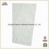 Saco plástico tecido PP branco de Packking da planície para a semente