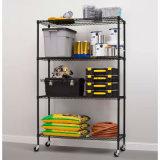 Коммерчески устроитель шкафа хранения Shelving стального провода полок 500lbs гаража 4 сверхмощный