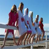 Poncho compétitif de plage d'impression de coton pour les enfants