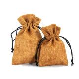 印刷される個人化された小さいジュートのギフトのドローストリングの袋の習慣(CJB1104)