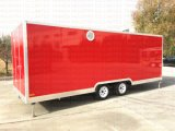 2017 de Mobiele Aanhangwagen Van uitstekende kwaliteit van de Keuken van de Vrachtwagen van het Voedsel Mobiele met Platen Dimond