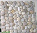 中国の白く黒く黄色いクリーム色カラー等級の川の石